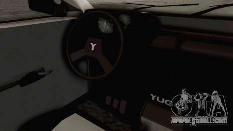 Zastava Yugo Koral 55 for GTA San Andreas inner view