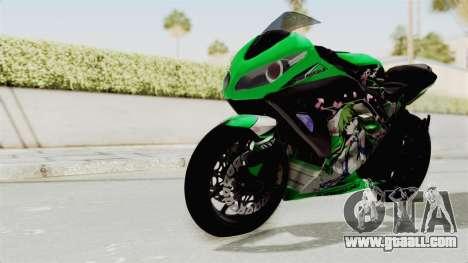 Kawasaki Ninja 250FI Kochiya Sanae Itasha for GTA San Andreas