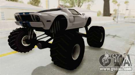 Ford GT 2005 Monster Truck for GTA San Andreas back left view