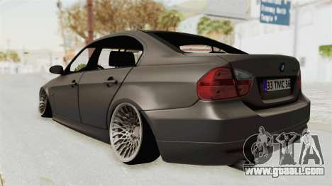 BMW 330i E92 Camber for GTA San Andreas back left view
