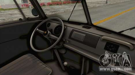 Volkswagen T1 Station Wagon De Luxe Type2 1963 for GTA San Andreas inner view