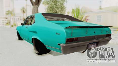 Chevy Nova 454 for GTA San Andreas left view