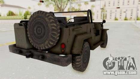 MGSV Jeep No LMG for GTA San Andreas left view