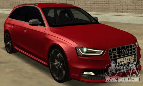 Audi S4 Avant for GTA San Andreas