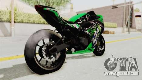 Kawasaki Ninja 250FI Kochiya Sanae Itasha for GTA San Andreas back left view
