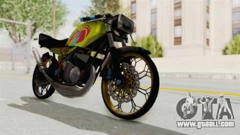 Yamaha RX King 200 CC Killing Ninja for GTA San Andreas back left view
