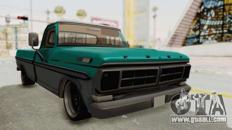 Ford F-150 Black Whells Edition for GTA San Andreas right view