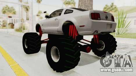 Ford Mustang 2005 Monster Truck for GTA San Andreas left view