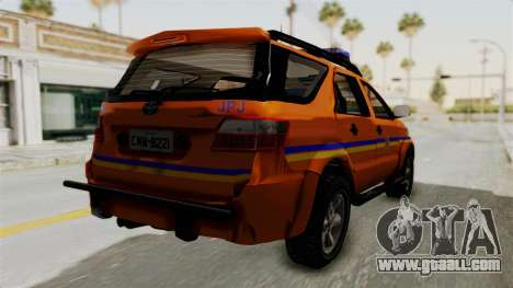 Toyota Fortuner JPJ Orange for GTA San Andreas right view