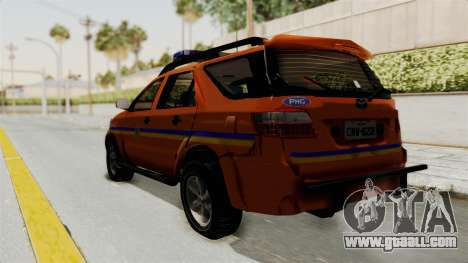 Toyota Fortuner JPJ Orange for GTA San Andreas left view