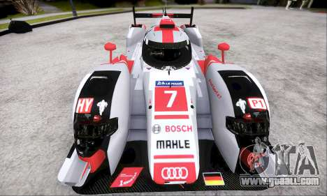 Audi R18 E-Tron Quattro 2015 for GTA San Andreas back left view