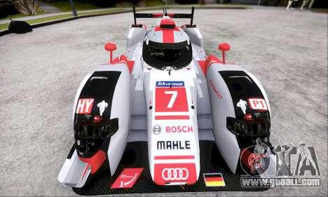 Audi R18 E-Tron Quattro 2015 for GTA San Andreas back left view