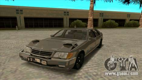 Mercedez-Benz W140 for GTA San Andreas back view