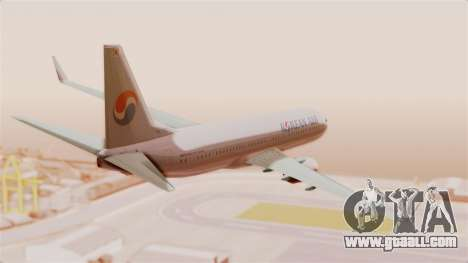 Boeing 737-800 Korean Air for GTA San Andreas right view