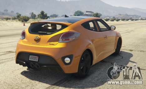 GTA 5 Hyundai Veloster [Replace] 1.2 rear left side view