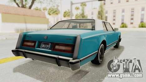 GTA 5 Dundreary Virgo Classic Custom v3 for GTA San Andreas left view