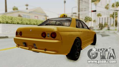 Nissan Skyline R32 4 Door Taxi for GTA San Andreas back left view