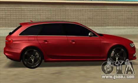 Audi S4 Avant for GTA San Andreas back left view