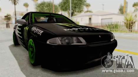 Nissan Skyline R32 Drift Monster Energy Falken for GTA San Andreas right view