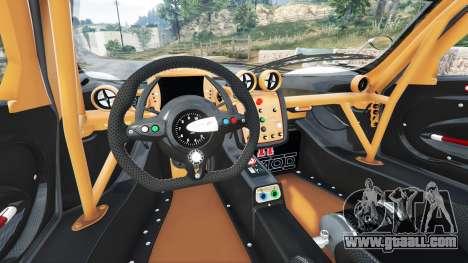 GTA 5 Pagani Zonda R v1.1 rear right side view