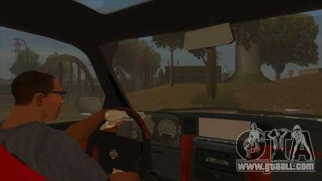 Nissan Patrol Y61 for GTA San Andreas inner view