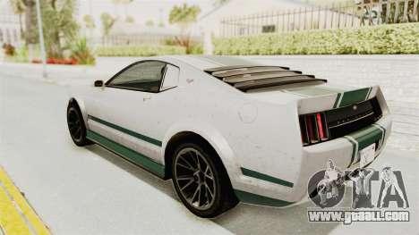 GTA 5 Vapid Dominator v2 SA Style for GTA San Andreas bottom view