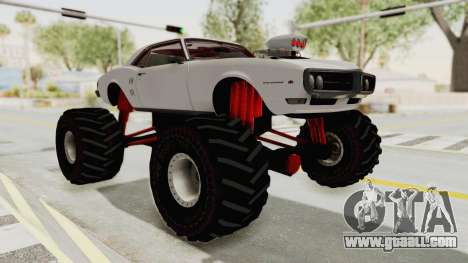 Pontiac Firebird 400 1968 Monster Truck for GTA San Andreas right view