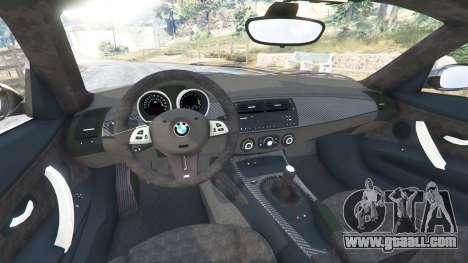 GTA 5 BMW Z4 M (E86) 2008 rear right side view