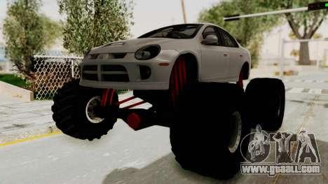 Dodge Neon Monster Truck for GTA San Andreas back left view