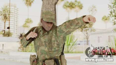 MGSV Ground Zeroes US Soldier Armed v1 for GTA San Andreas