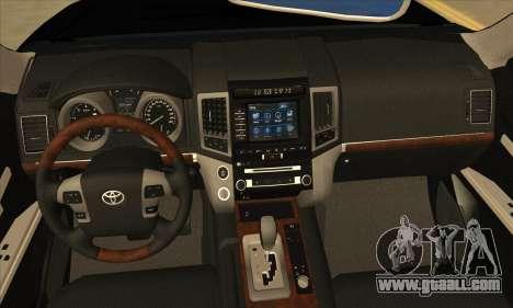 Toyota Land-Cruiser 200 for GTA San Andreas inner view