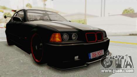 BMW M3 E36 Beast for GTA San Andreas back left view