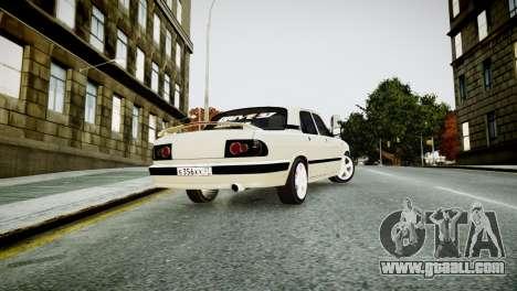GAZ 3110 Turbo WRX STI for GTA 4 back left view