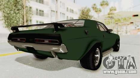 Dodge Challenger 1971 for GTA San Andreas left view