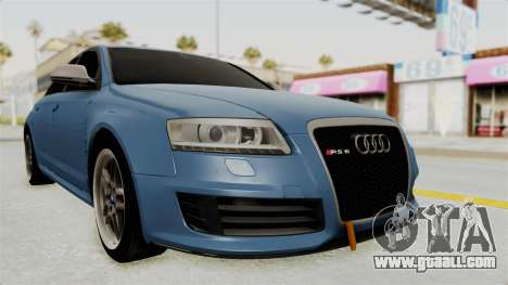 Audi RS6 for GTA San Andreas right view