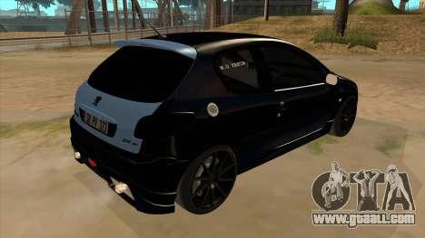 Peugeot 206 MO Edit for GTA San Andreas right view