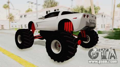 Chevrolet Corvette C6 Monster Truck for GTA San Andreas left view