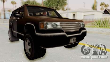 Landstalker from GTA 3 for GTA San Andreas right view