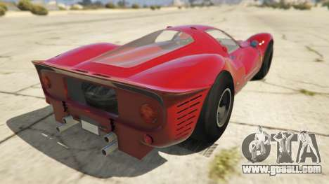 GTA 5 Ferrari 330 P4 1967 rear left side view
