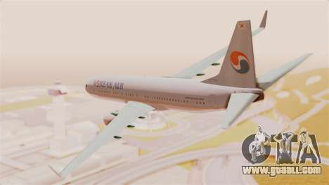 Boeing 737-800 Korean Air for GTA San Andreas left view
