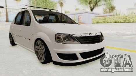 Dacia Logan 2013 for GTA San Andreas right view