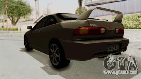 Acura Integra Fast N Furious for GTA San Andreas back left view