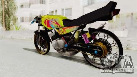 Yamaha RX King 200 CC Killing Ninja for GTA San Andreas right view