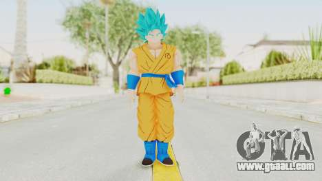 Dragon Ball Xenoverse Goku SSGSS V2.0 for GTA San Andreas second screenshot