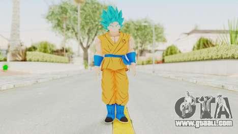 Dragon Ball Xenoverse Goku SSGSS V2.0 for GTA San Andreas second screenshot