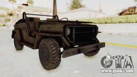 MGSV Jeep No LMG for GTA San Andreas