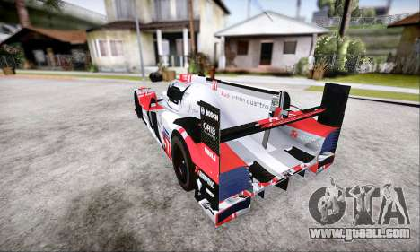 Audi R18 E-Tron Quattro 2015 for GTA San Andreas right view