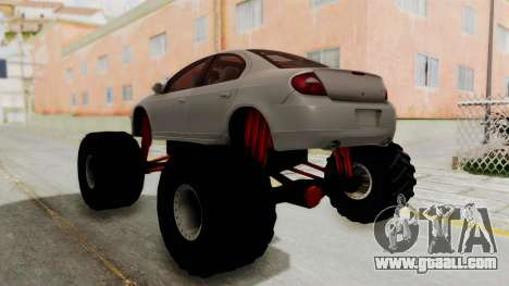 Dodge Neon Monster Truck for GTA San Andreas left view