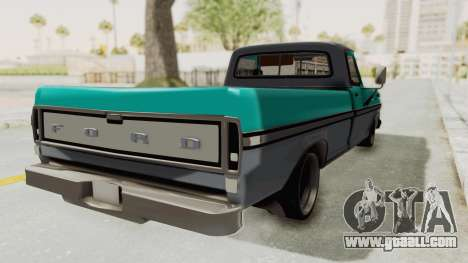 Ford F-150 Black Whells Edition for GTA San Andreas back left view