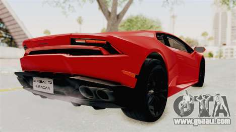 Lamborghini Huracan 2014 Stock for GTA San Andreas back left view